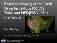 Real-time Imaging of the Earth Using Terra/Aqua ... - WisconsinView