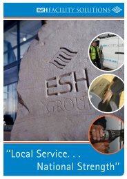 ''Local Service. . . National Strength'' - Esh Group