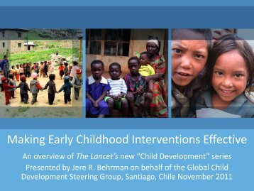 Making Early Childhood Interventions Effective