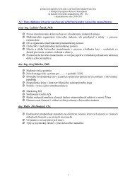 Témy bakalárskych a diplomových prác - Fakulta špeciálneho ...