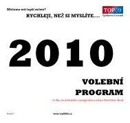 2010 volební program pro komunální volby v Havlíčkově ... - TOP 09