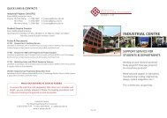 industrial centre support service for students & departments