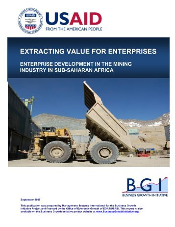EXTRACTING VALUE FOR ENTERPRISES - CommDev