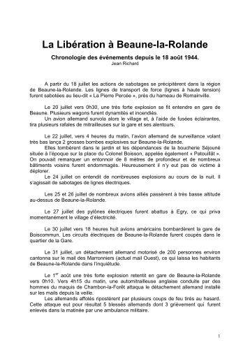 La Libération à Beaune-la-Rolande - Communauté de communes ...