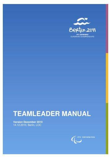 Team Leader Maual 10-12-22.pdf - the 2011 IPC Swimming ...