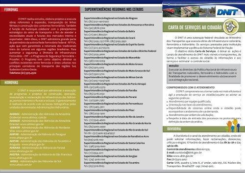 CARTA DE SERVIÇOS AO CIDADÃO - Dnit