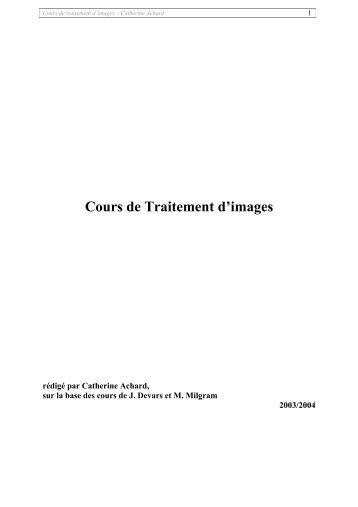 Cours de Traitement d'images - Free