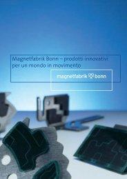 Magnetfabrik Bonn – prodotti innovativi per un mondo in movimento