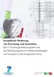 Europäische Förderung von Forschung und Innovation - FRP & CIP ...