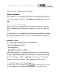 Freiwilliges Soziales Jahr in der Kultur – FSJ Kultur 1 ... - LKJ SH eV