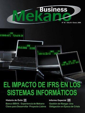 EL IMPACtO DE IFRS En LOS SIStEMAS InFORMátICOS - Mekano