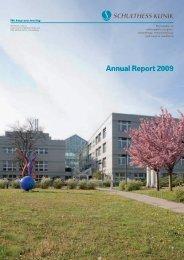 Annual Report 2009 - Schulthess Klinik