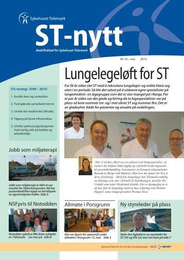 ST-nytt nr. 10, 2010 - Sykehuset Telemark