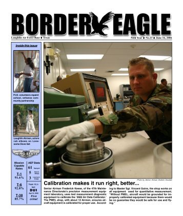 Calibration makes it run right, better... - Laughlin Air Force Base