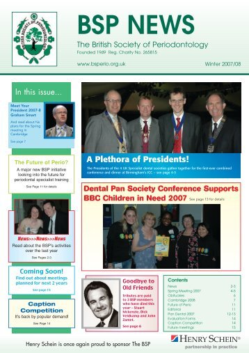 BSP NEWS - the British Society of Periodontology website!