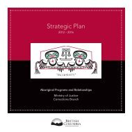 Aboriginal Justice - Aboriginal Strategict Plan ... - Ministry of Justice