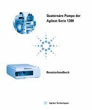 Quaternäre Pumpe der Agilent Serie 1200 - Agilent Technologies