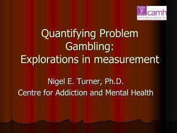 Explorations in measurement - Responsible Gambling Council