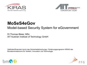 MoSeS4eGov - KIRAS Sicherheitsforschung