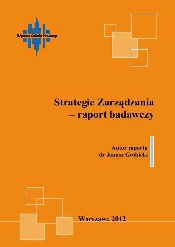 Strategie Zarządzania - raport badawczy - Wyższa Szkoła Promocji