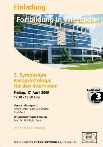 Einladung Fortbildung in Wiesbaden - Dr. Falk Pharma GmbH