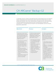 CA ARCserve® Backup r12 - individual Computer Systems