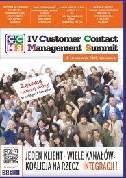 IVCustomer Contact Management Summit - Blue Business Media