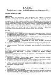 scheda riassuntiva del progetto - Agenda 21 Est Ticino