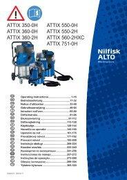 attix 350-0h attix 360-0h attix 360-2h attix 550-0h ... - Nilfisk PARTS
