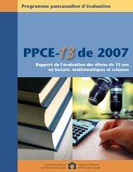 PPCE- de 2007 - Conseil des ministres de l'Éducation du Canada ...