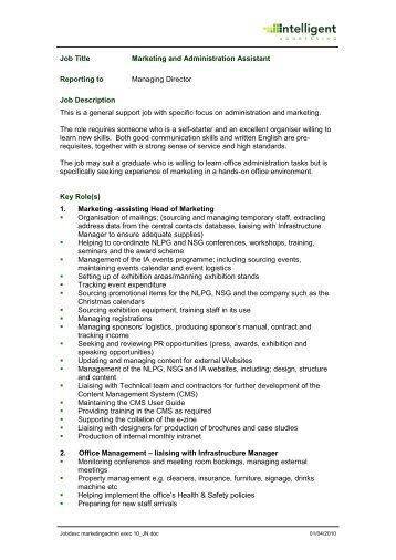 job title business development manager iahubnet - Infrastructure Manager Job Description
