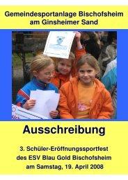 zeitplan schülersportfest08 - Leichtathletikweb.de