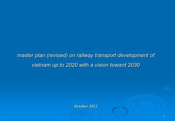 master plan (revised) on railway transport development of vietnam ...