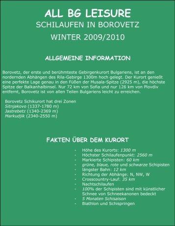 allgemeine information - ALL BG Leisure