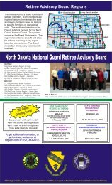 2007-UPDATE-Retiree-Brochure - North Dakota National Guard