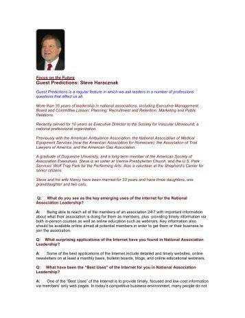 Guest Predictions: Steve Haracznak - The Regis Group Inc
