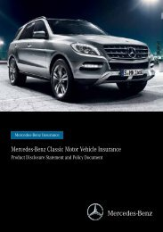 Classic Motor Vehicle Insurance Product ... - Mercedes-Benz