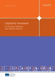 Capability framework for Victorian maternity and ... - health.vic.gov.au