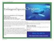 Endangered Species Origami - NOAA Celebrates 200 Years of ...