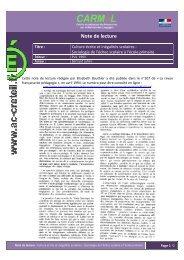 Note de lecture rédigée par Elisabeth Bautier et publiée dans La ...