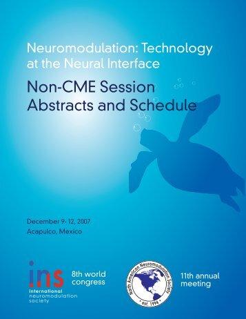Non-CME Syllabus - International Neuromodulation Society