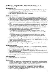 Satzung - Togo-Kinder Zukunftschance eV