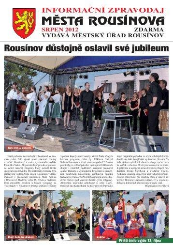 Zpravodaj z 17.08.2012 - Rousínov