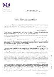 Liste janvier / février 2007 - Librairie La Memoire du Droit