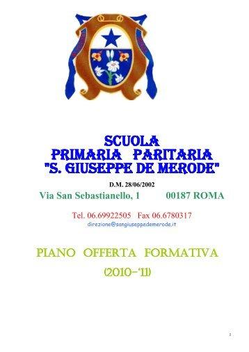 pof primaria 2010-11.pdf - Collegio San Giuseppe - Istituto De Merode