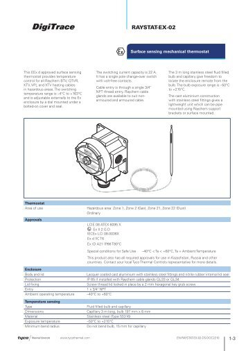 RAYSTAT-EX-02 - Tyco Thermal Controls