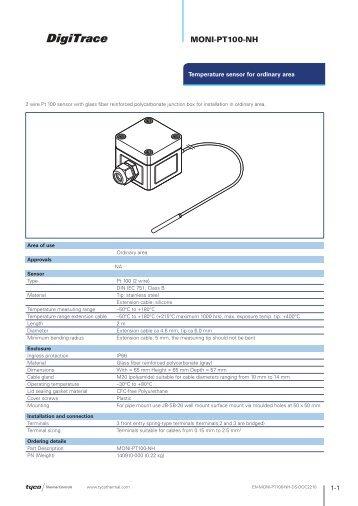 MONI-PT100-NH - Tyco Thermal Controls