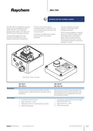 JBU-100 - Tyco Thermal Controls