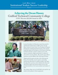 Guilford Technical Community College - Achieving the Dream