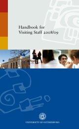 Handbook for Visiting Staff 2008/09